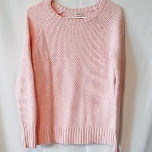Pink Knit Crew Neck Sweater